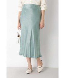 NATURAL BEAUTY BASIC/[洗える]グロッシーサテンマーメイドスカート/503172287