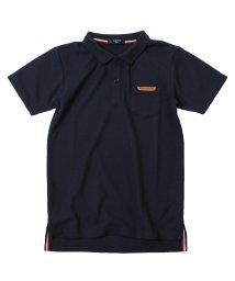 GLAZOS/カノコ・合皮パッチポロシャツ/503172929