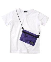 GLAZOS/天竺・サコッシュトロンプルイユ半袖Tシャツ/503172932