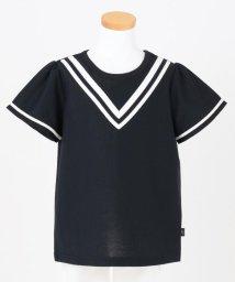 KUMIKYOKU KIDS/【UVカット/130-140cm】バイカラーライン カットソー/503173815