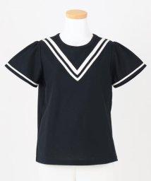 KUMIKYOKU KIDS/【UVカット/150-170cm 】バイカラーライン カットソー/503173816