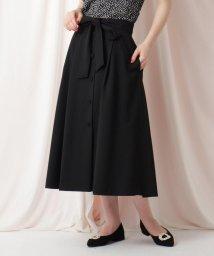 Couture Brooch/【WEB限定サイズ(LL)あり/洗える】フロントボタンリネンライクフレアスカート/503174079