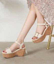 Shoes in Closet/ビックバックル ヒールリボン 厚底ウェッジサンダル/503166671