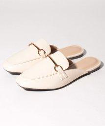 Shoes in Closet/★スクエアトゥ ビット フラットバブーシュサンダル/503166674