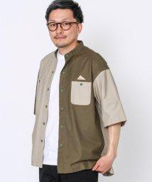 coen/KELTY(ケルティ)別注バンドカラー半袖シャツ(その他⇒WEB限定カラー)/503174443