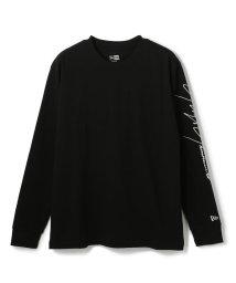 GARDEN/YohjiYamamotoxNewEra/ヨウジヤマモト×ニューエラ/長袖 コットン Tシャツ Yohji Yamamoto SS20 シグネチャーロゴ ブラッ/503174504