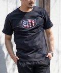 Nylaus/サガラ刺繍 星条旗 CITYロゴ クルーネック 半袖 Tシャツ/503174852