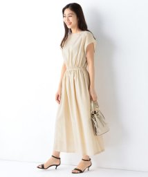 Demi-Luxe BEAMS/Demi-Luxe BEAMS / ウエストギャザー ワンピース/503105955