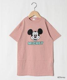 b-ROOM/【DISNEY】 ミッキーマウスデザイン フェイスロゴビッグTシャツワンピース/503161048