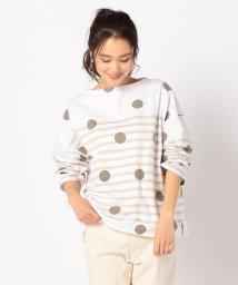 NOLLEY'S/【ORCIVAL/オーシバル】ドットプリントボーダーTシャツ/503169567