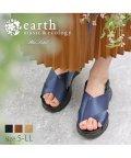 earth music&ecology BlueLabel/アースミュージック&エコロジー クロスダッドサンダル 靴 レディース 厚底 スポサン おしゃれ earth music&ecology bluelabel S-/503175360