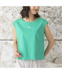 Liliane Burty/クールヴェール 吸湿冷感 フレンチスリーブTシャツ/503177350