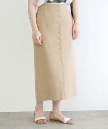 ADAM ET ROPE'/【一部店舗限定】フロント釦Iラインスカート/503177411