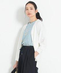 JIYU-KU(LARGE SIZE)/【マガジン掲載】ハイゲージコットン カラーカーディガン(検索番号G28)/503177995