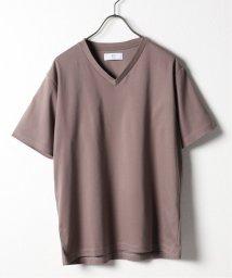 417 EDIFICE/アセジミボウシ シルケットスムース Vネック  Tシャツ/503178461