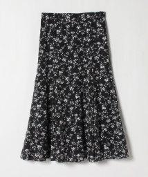 LANVIN en Bleu/【セットアップ対応商品】カットジャカードフラワープリント スカート/503022873