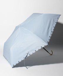 Afternoon Tea LIVING/スカラップフラワー刺繍晴雨兼用折りたたみ傘 日傘/503083382