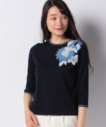 LAPINE BLANCHE/花柄インターシャセーター/503172811