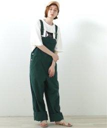 DOUBLE NAME/綿麻オーバーオール/503179511
