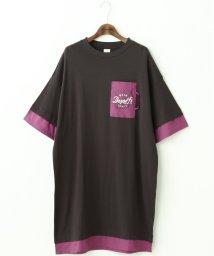 DOUBLE NAME/ポケ刺繍レイヤード風ゆるワンピース/503179514