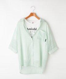 PINK-latte/★ニコラ掲載★スケシャツ×TシャツSET/503180591