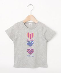 3can4on(Kids)/【90-140cm】トリプルハートプリントTシャツ/503180599