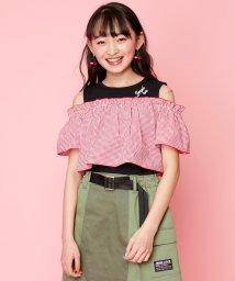 JENNI love/【ニコ☆プチ6月号掲載】ギンガムレイヤード風トップス/503181120