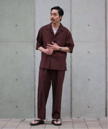 417 EDIFICE/【2枚セット】SPECIALセットアップショートスリーブシャツ × ワイドパンツ/503182535