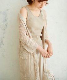 le.coeur blanc/透かし柄Vネックカーディガン/502977507