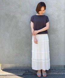 le.coeur blanc/透かし柄ニットスカート/503058196