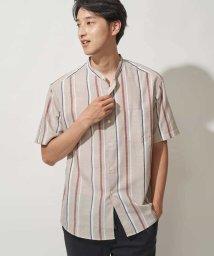 a.v.v (MEN)/ランダムストライプバンドカラーシャツ[WEB限定サイズ]/503086044