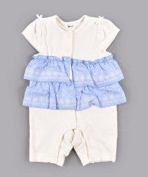 e-baby/テレコフリル刺繍ロンパース/503089315