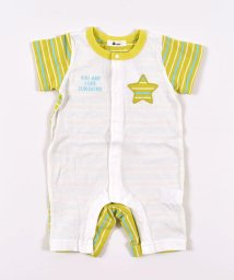e-baby/天竺ボーダー切り替えロンパース/503089318