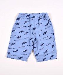 SLAP SLIP/綿麻5.5分丈サメ柄パンツ/503091859