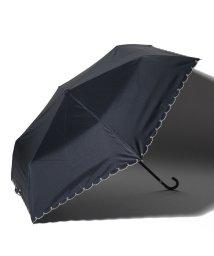 Afternoon Tea LIVING/スカラップハート刺繍晴雨兼用折りたたみ傘 日傘/503125980