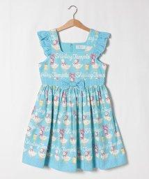 ShirleyTemple/あひる&ひよこボーダープリントジャンパースカート(140cm)/503168100