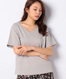 MELROSE Claire/16/-天竺VネックTシャツ/503173923