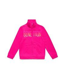 BENETTON (UNITED COLORS OF BENETTON GIRLS)/スウェットロゴジップスタンドカーディガン/503173978