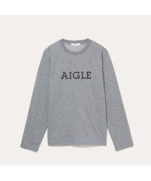 AIGLE MEN/DFT AIGLEプリント長袖Tシャツ/503182705