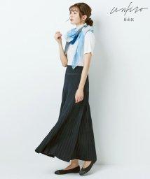 JIYU-KU(LARGE SIZE)/【Unfilo】コットンブレンドニット プリーツスカート(検索番号Z46)/503183456