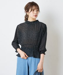 NICE CLAUP OUTLET/【セットアップ対応商品】シフォンプリーツブラウス/503159586