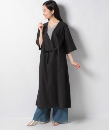 MARcourt/V neck gown shirt with belt/503173791