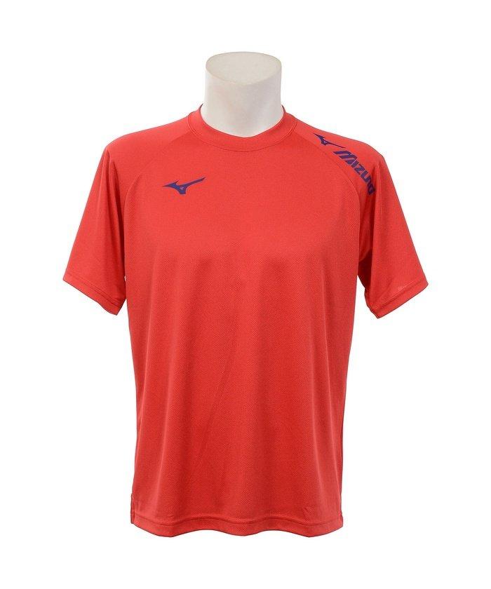 販売主:スポーツオーソリティ ミズノ/TSAオリジナルロゴTシャツ ユニセックス レッド×ブルー S 【SPORTS AUTHORITY】