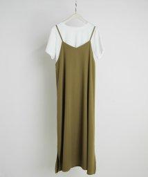NICOLE white/キャミワンピース&テレコTシャツ/503074444