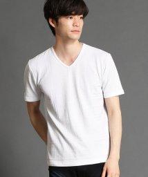 NICOLE CLUB FOR MEN/リンクスチェックVネックTシャツ/503147304