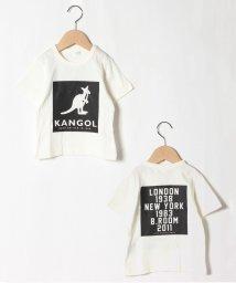 b-ROOM/KANGOLモノトーンプリント半袖Tシャツ/503172650
