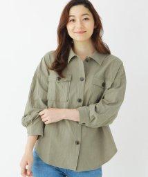 SHOO・LA・RUE/【M-LL】CPOコットン(綿)シャツ/503160215