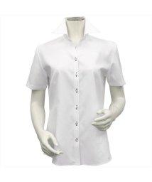 BRICKHOUSE/シャツ 半袖 形態安定 スキッパー衿 透け防止 レディース ウィメンズ/503185622