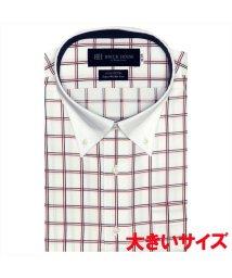 BRICKHOUSE/ワイシャツ 半袖 形態安定 クレリック  ピマ綿100% 3L・4L メンズ/503185632