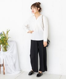 NICE CLAUP OUTLET/カットプリーツパンツ/503146093